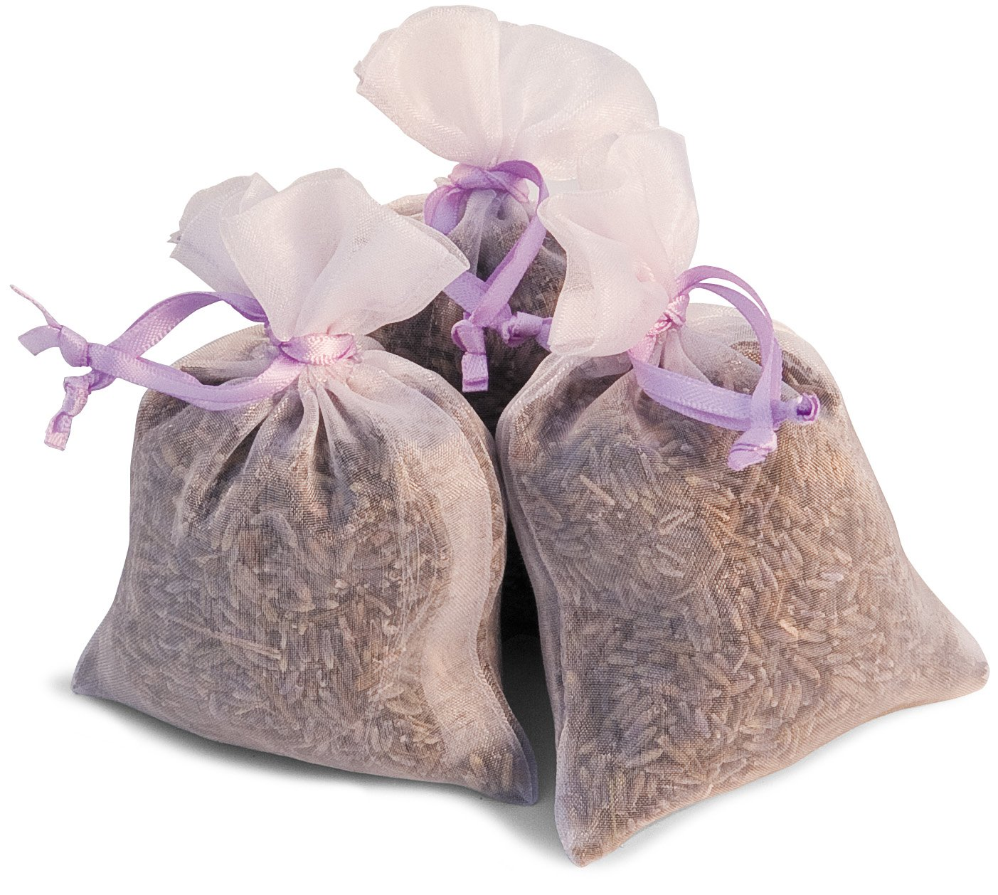 3 Mini Lavender filled Organza Bag Cotswold Lavender HW11