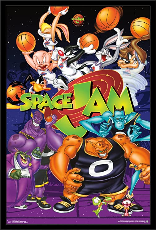 Amazon Com Trends International Looney Tunes Space Jam Collage