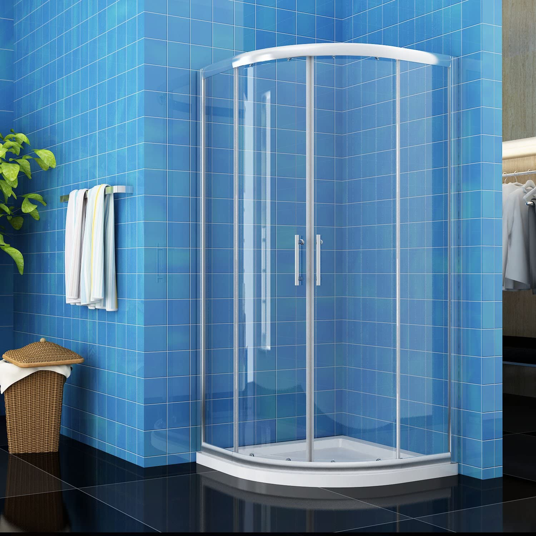ELEGANT 900 x 900 mm Quadrant Shower Cubicle Enclosure Sliding Door 6mm Easy Clean Glass