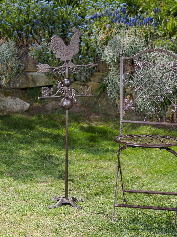 Nostalgia banderuola gallo decoratione giardino ferrosegnavento marrone