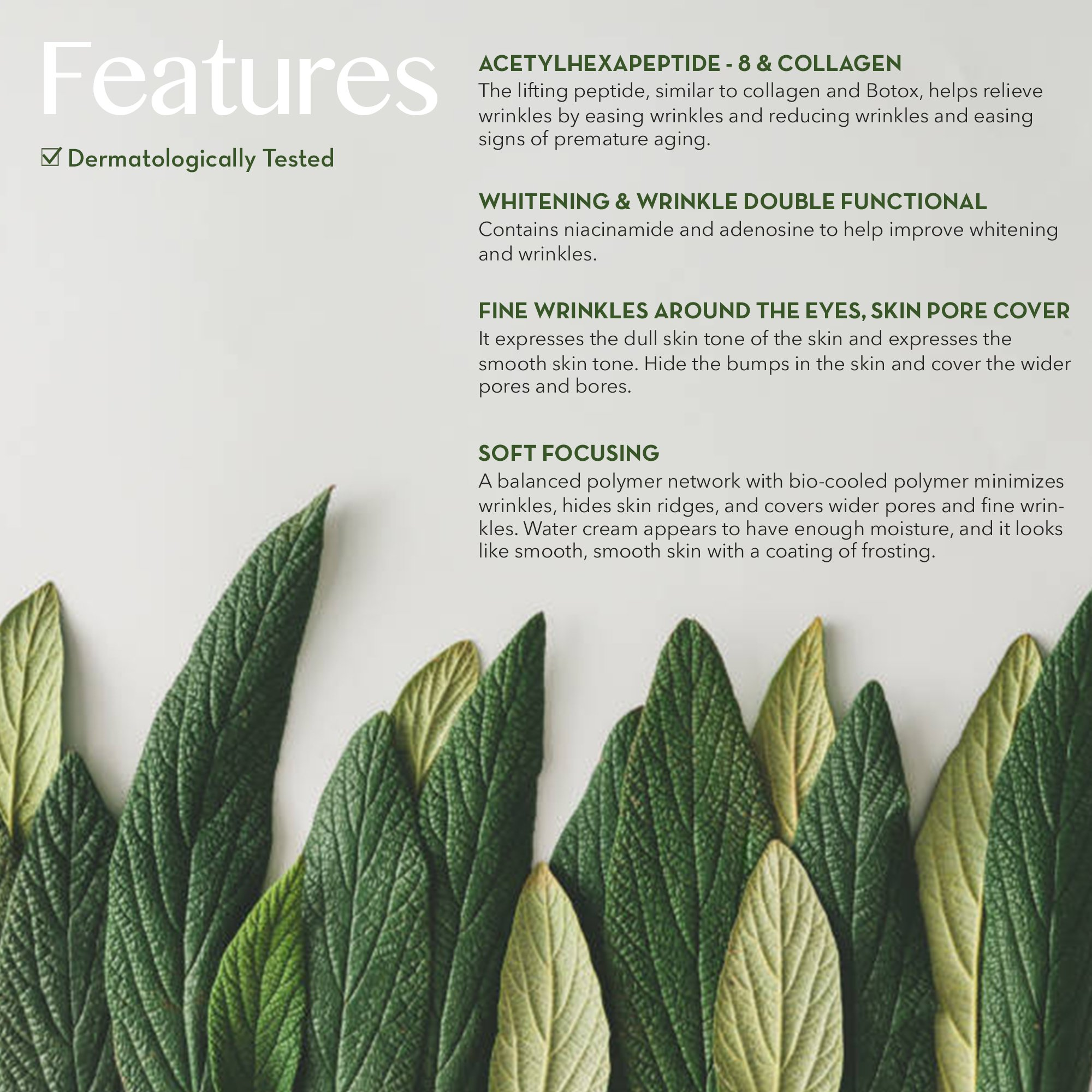 Forest Heal Eye Gel With Collagen Peptides and Niacinamide - Natural Anti Aging, Anti Wrinkle Moisturizer For Under and Around Eyes - 1.69 fl.oz. by Forest Heal (Image #4)