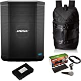 Bose S1 Pro Bluetooth Speaker System Bundle with Battery, Bose S1 Pro Backpack, Shure PGA48 Microphone, 15ft XLR Audio…