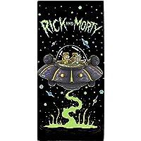 "Rick and Morty"" UFO Towel, Cotton, Multi-Colour, 70 x 0.5 x 140 cm"