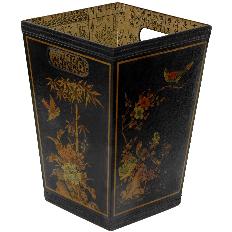 sc 1 st  Amazon.com & Amazon.com: Oriental Furniture Black Lacquer Trash Bin: Home u0026 Kitchen