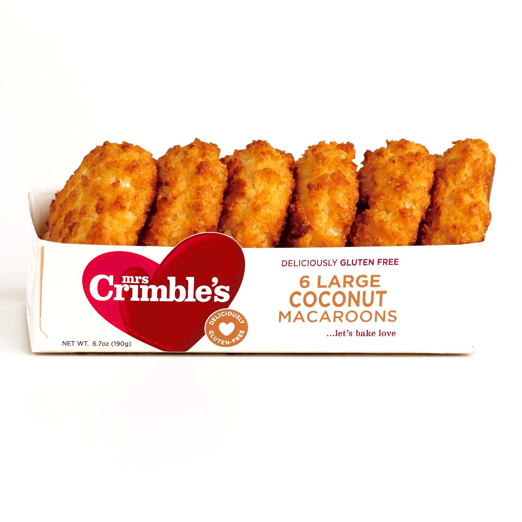 Mrs. Crimble's Coconut Macaroons 6.7 oz each (5 Items Per Order)