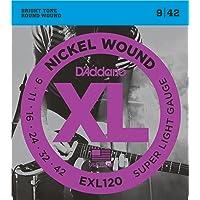 D'Addario EXL120 - Juego de cuerdas para guitarra eléctrica de níquel, 9-42