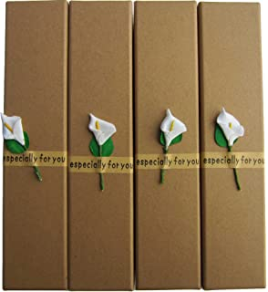 Jewelry Necklace Gift Boxes - Lebeila 4pcs Kraft Paper Gifts Wrap with Lids, Thick Cardboard