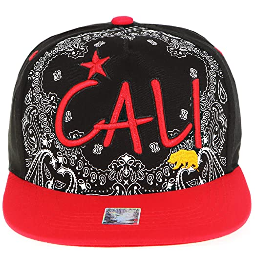 38520e8c RufnTop Califonia Republic Hat Embroidered Cali Bear Snapback Cap