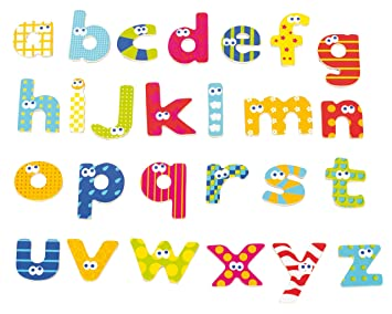 Amazon.com: Boikido Wooden Magnetic Lower Case Letters (59-Piece ...