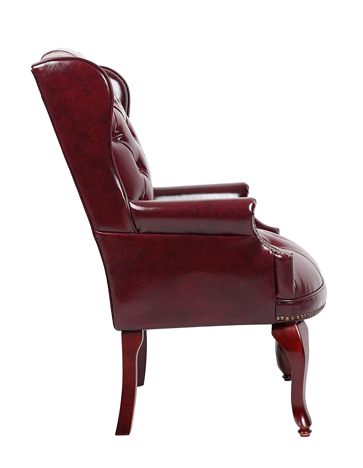 Gentil Amazon.com: Boss Office Products B809 BY Wingback Traditional Guest Chair  In Burgundy: Kitchen U0026 Dining