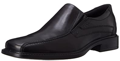 ECCO Men's New Jersey Slip-On Black Santiago Full-Grain Leather Loafer 46 (