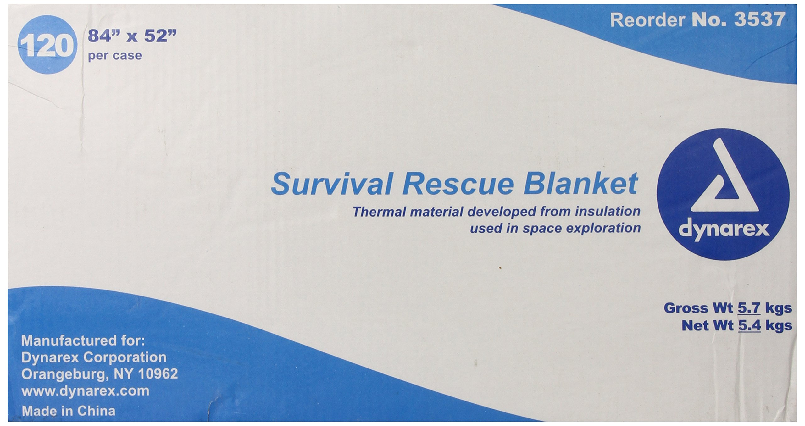 Dynarex Survival Rescue Blanket, 120 Count, 84 Inch x 52 Inch, (Pack of 120) by Dynarex (Image #3)