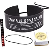 "Prairie Essentials 3x20 Inch Strip Wrap Around Heating Pad Warming Heat Mat & Thermometer for Kombucha Tea & Beer Brewing, Fermentation, Seedlings & Plant Germination (1, 3"" x 20"")"