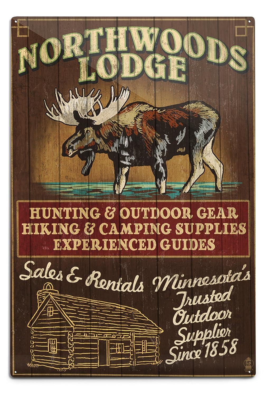 【福袋セール】 ミネソタ ミネソタ – Sign Moose Northwoods 12 Lodge Vintage Sign 16 x 24 Giclee Print LANT-41191-16x24 B06Y1HFJBT 12 x 18 Metal Sign 12 x 18 Metal Sign, 狛江 風月堂:b5dc2a84 --- login.spamwall.ie