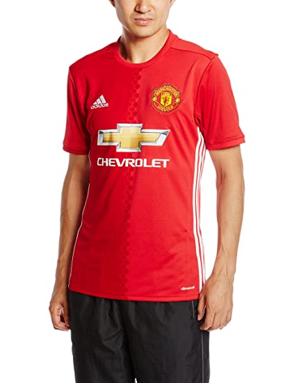 aa1e5d44f adidas Manchester United FC Official 2016 17 SS Home Jersey - Adult - Red -