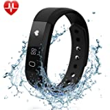 12 in 1 Fitness Tracker Watch HR, FELIS Activity Tracker with Heart Rate Monitor Sleep Monitor, Bluetooth Pedometer Watch with Call MSM Reminder and IP67 Water Resistance for iPhone Android Smartphone
