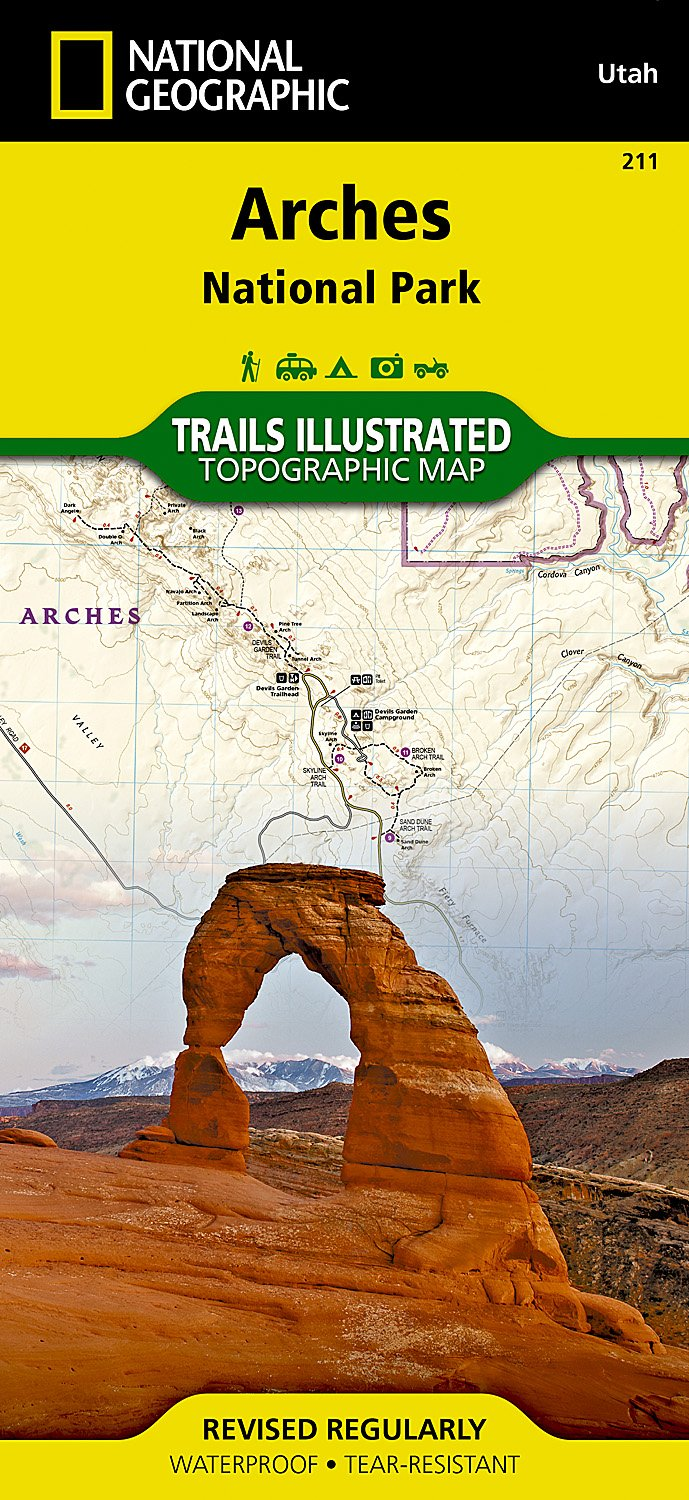 Arches National Park (National Geographic Trails Illustrated Map ...
