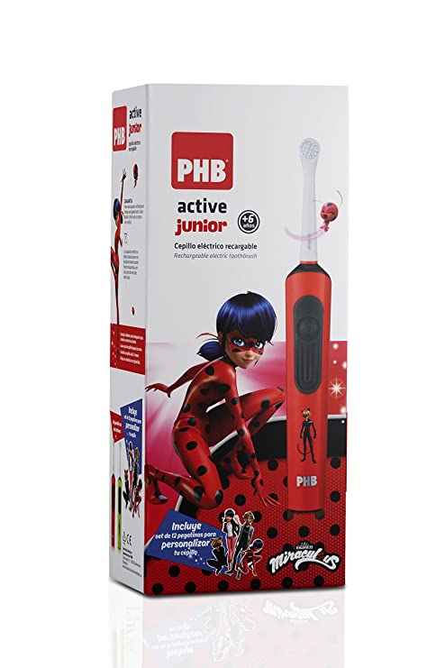 PHB Active Junior Cepillo de Dientes Eléctrico Infantil Recargable, 5.600 rpm
