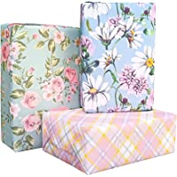 Aakar Pack of 6, Size 17 x 29 Inches, Wrapping Paper Sheets For Craft, Packing, Birthday, Christmas, Wedding (Fuzzy All)