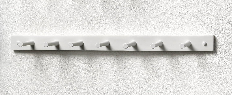 Amazon.com: Spectrum Diversified Wood Wall Hook Rack, 7 Peg, White: Home &  Kitchen