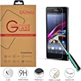 Sony Xperia Z1 C6903 Tempered Glass Screen Protector, (GG MALL) Anti Scratch Explosion Proof Ballistics Glass for Sony Xperia Z1 Honami L39H C6902 C6903 C6909 C6943