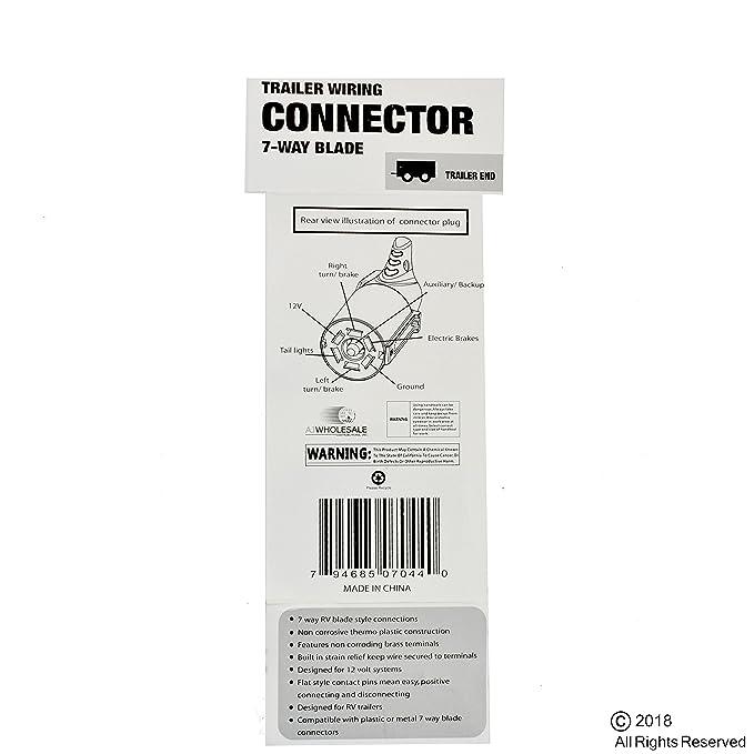 amazon com: vct 7 poles round trailer connector male & female rv light plug  connector 7-way new: automotive