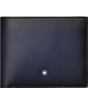 produits de qualité plus bas rabais grande vente de liquidation Montblanc Porte-Carte de crédit, Bleu Marine (Bleu) - 113165 ...