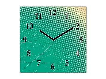 Reloj de Pared Grande - Cuadro de Cristal y Reloj de Pared - Variedad de diseños; AG10A Serie Texturas: Tarjeta de Papel: Amazon.es: Hogar