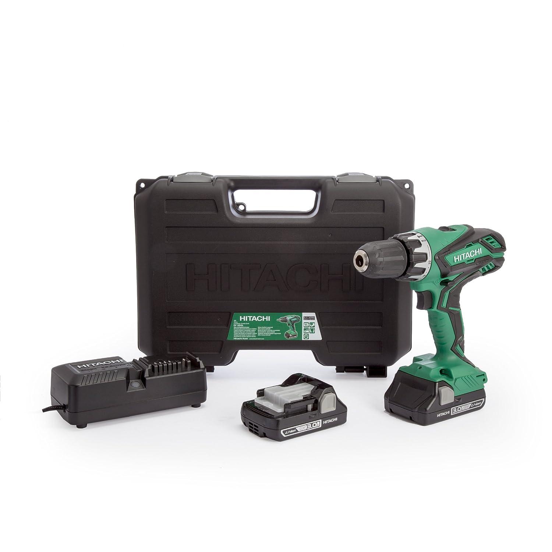 Hitachi DV18DGL/JM 18 V Cordless Li-Ion Combi Drill with 2 x 3 A battery - Green