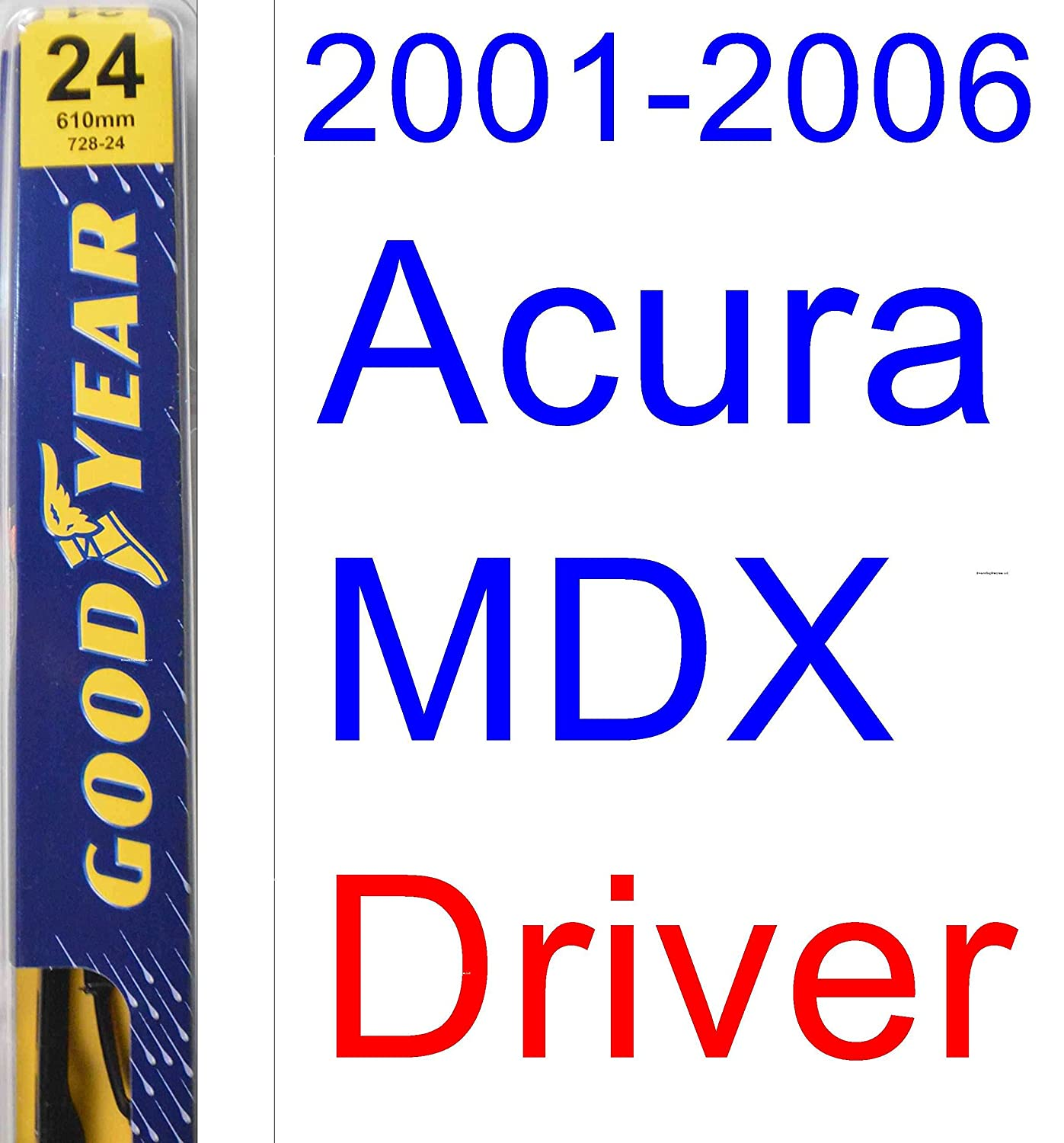 2001 2006 acura mdx replacement wiper blade set kit