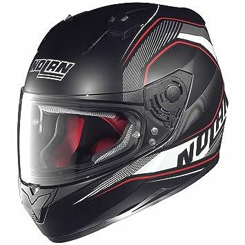 Nolan N64 - Casco integral para motocicleta, policarbonato, talla S, color negro y