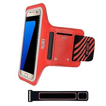 EOTW Brazalete deportivo Samsung Galaxy s6/7 de Neopreno Antideslizante con un bolsillo para tarjetas