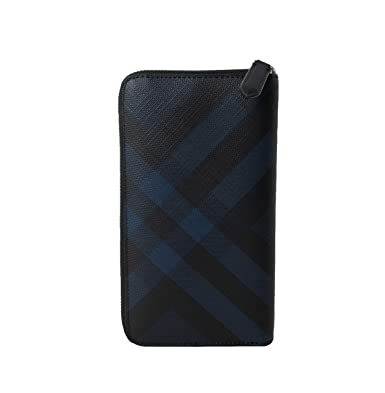 b94606b470c Image Unavailable. Image not available for. Color  Burberry London Check  and Leather Ziparound Wallet