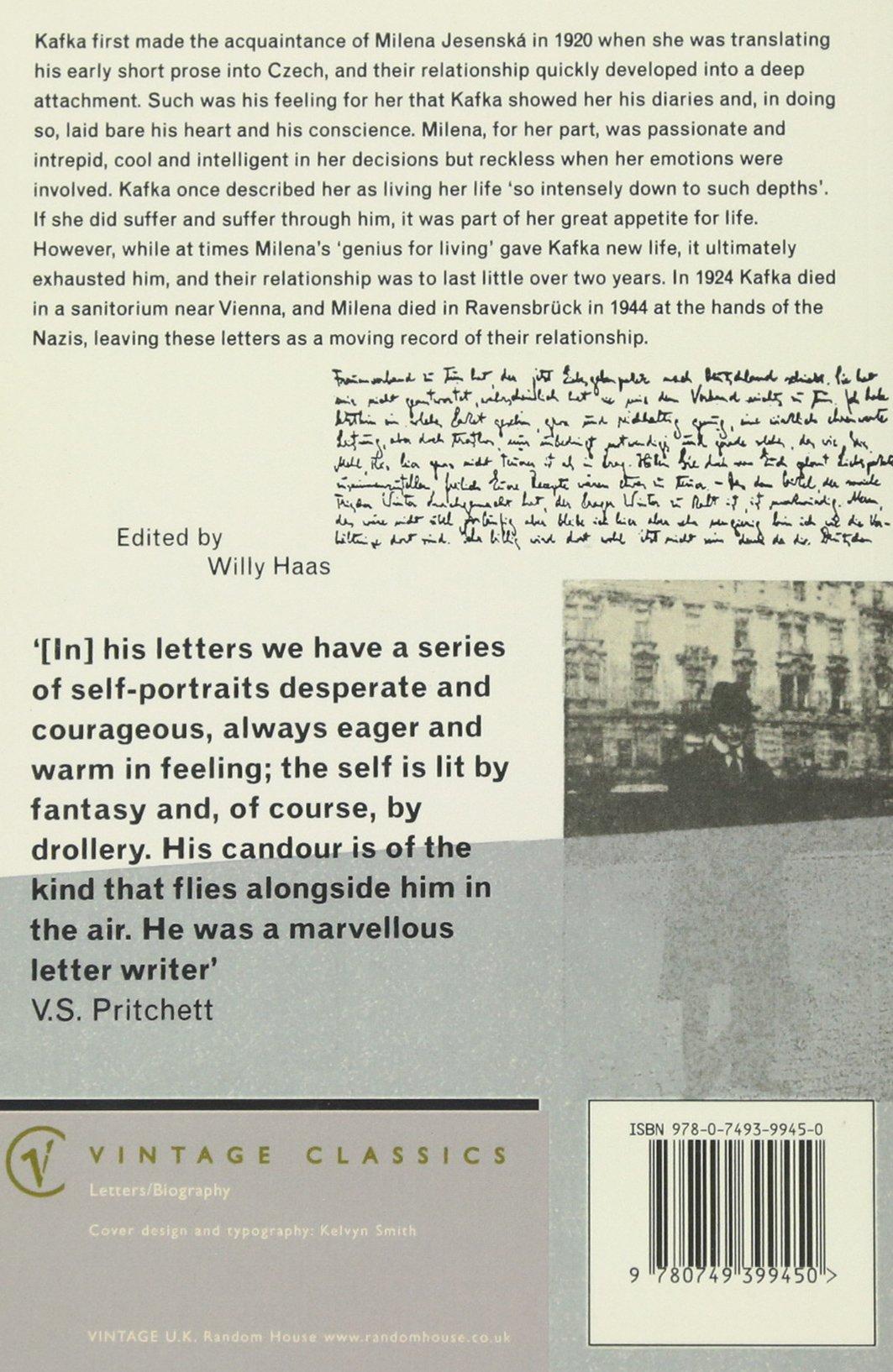 Letters To Milena (Vintage Classics): Amazon.es: Franz Kafka ...