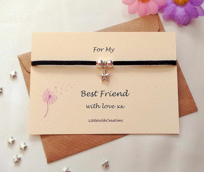 Best Friend Friendship Bracelet Suede Charm Bracelet