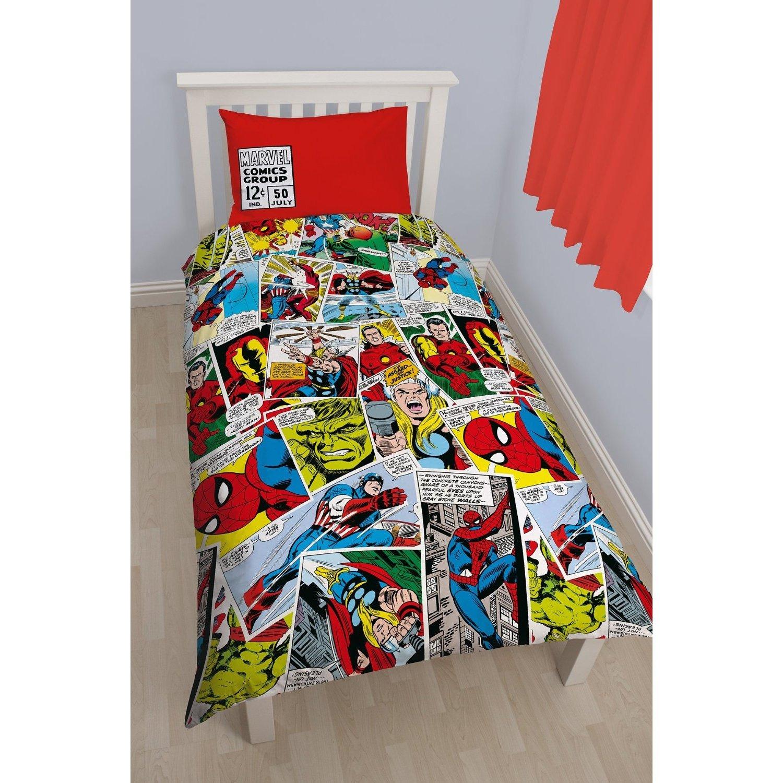 Marvel Comics Childrens/Kids Justice Reversible Duvet Cover Bedding Set (Double Bed) (Multicoloured)