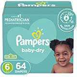 Pampers Diapers Size 6, Baby Dry Disposable Diapers, 64 Count, Super Pack (Packaging May Vary)