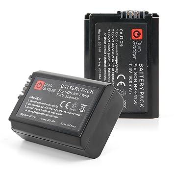 DURAGADGET Kit Batería NP-FW50 7.4 V 1020mAh + Cargador para cámaras Sony (Modelos compatibles en la descripción).