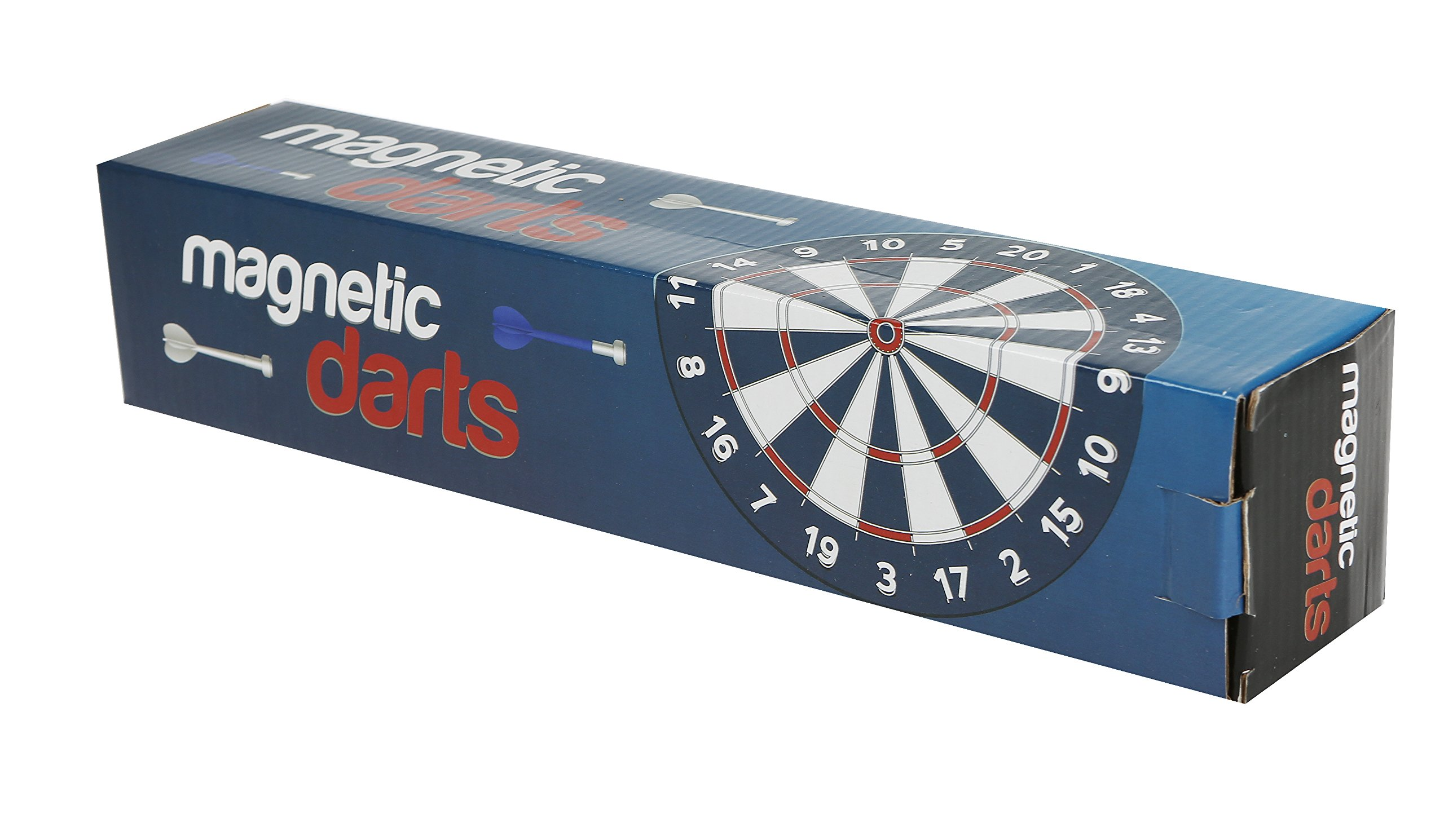 Martinex Magnetic Darts Game - Hanging Dart Board with Two-Sides for Traditional and Competition Play - includes 6 Darts - Rolls Up for Easy Storage and Travel