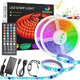 LED Strip Light 10M, TECHVIDA 32.8ft/10m 300 LEDs 16 Colors RGB SMD 5050 Strip Lights IP65 Waterproof Music Sync Rope…