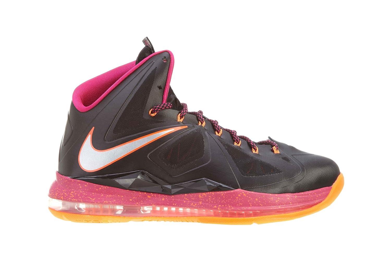 best website 1cae6 c0804 Amazon.com   NIKE Lebron X (Floridian Away) Black Cherry-Vivid Orange    Basketball