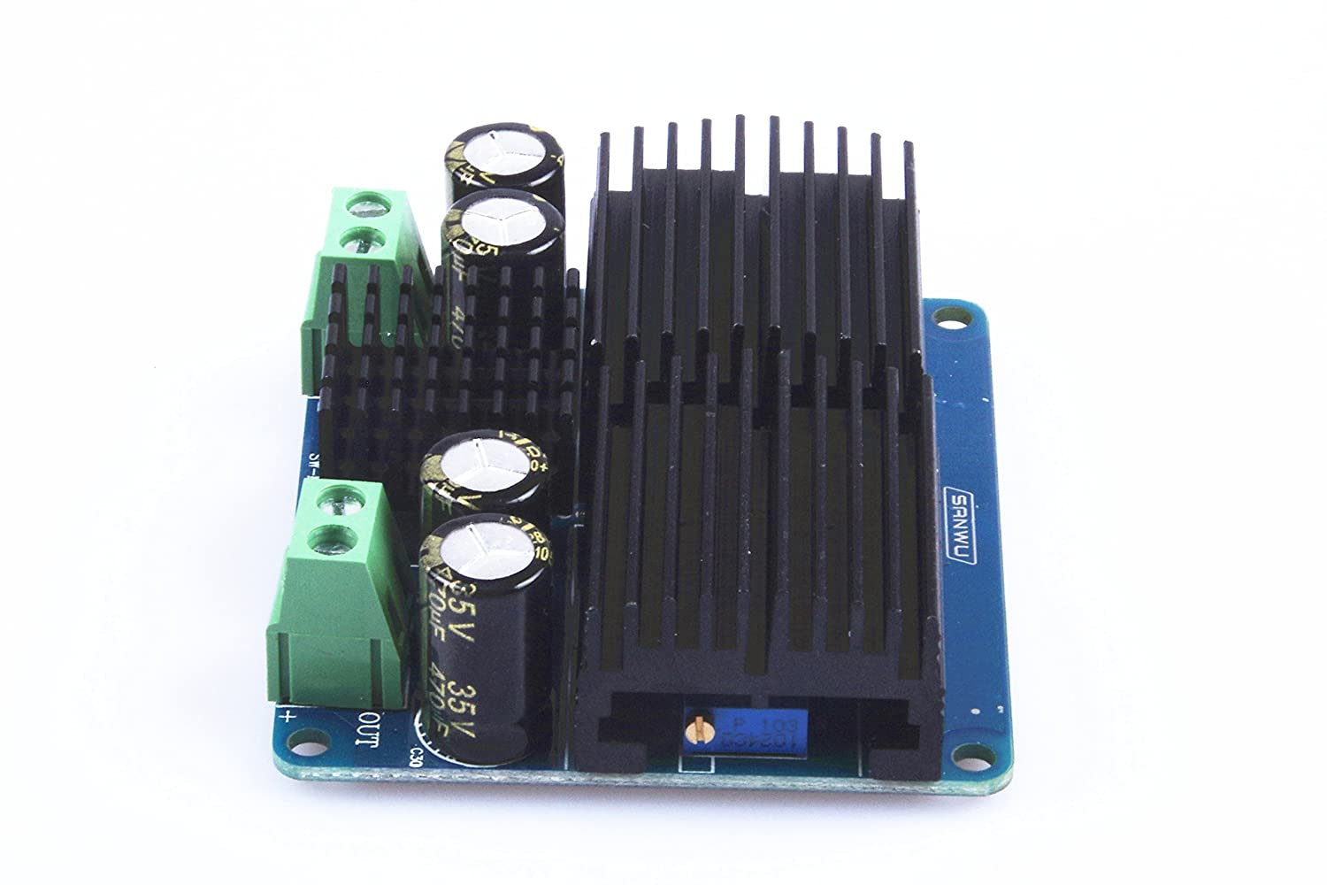 KNACRO DC-DC step-up power supply module Car power adjustable boost module 12V to 24V Input DC 10V~32V Output DC 15-35V adjustable