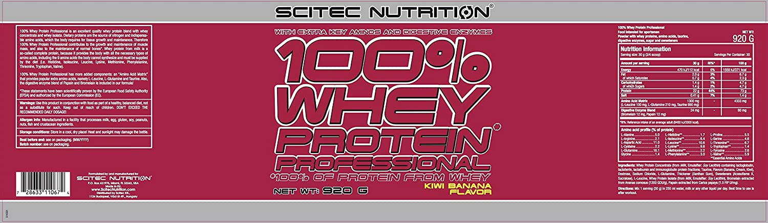 Scitec Nutrition 100% Whey Protein Professional proteína, Chocolate - 920 g