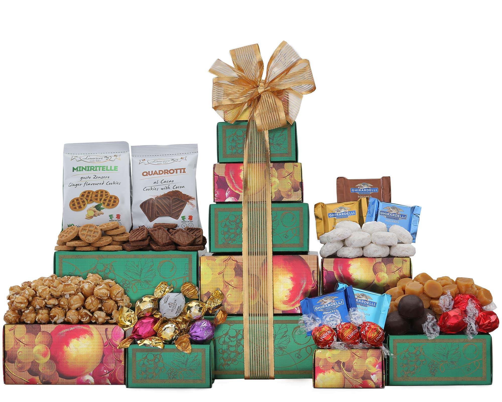 Wine Country Gift Baskets Ghirardelli, Godiva Chocolate & More Gift Tower. Christmas Chocolate Gift Basket. Holiday Gift Tower. Perfect for Family Gifts, Corporate Gifts, Token Of Appreciation Gift by Wine Country Gift Baskets