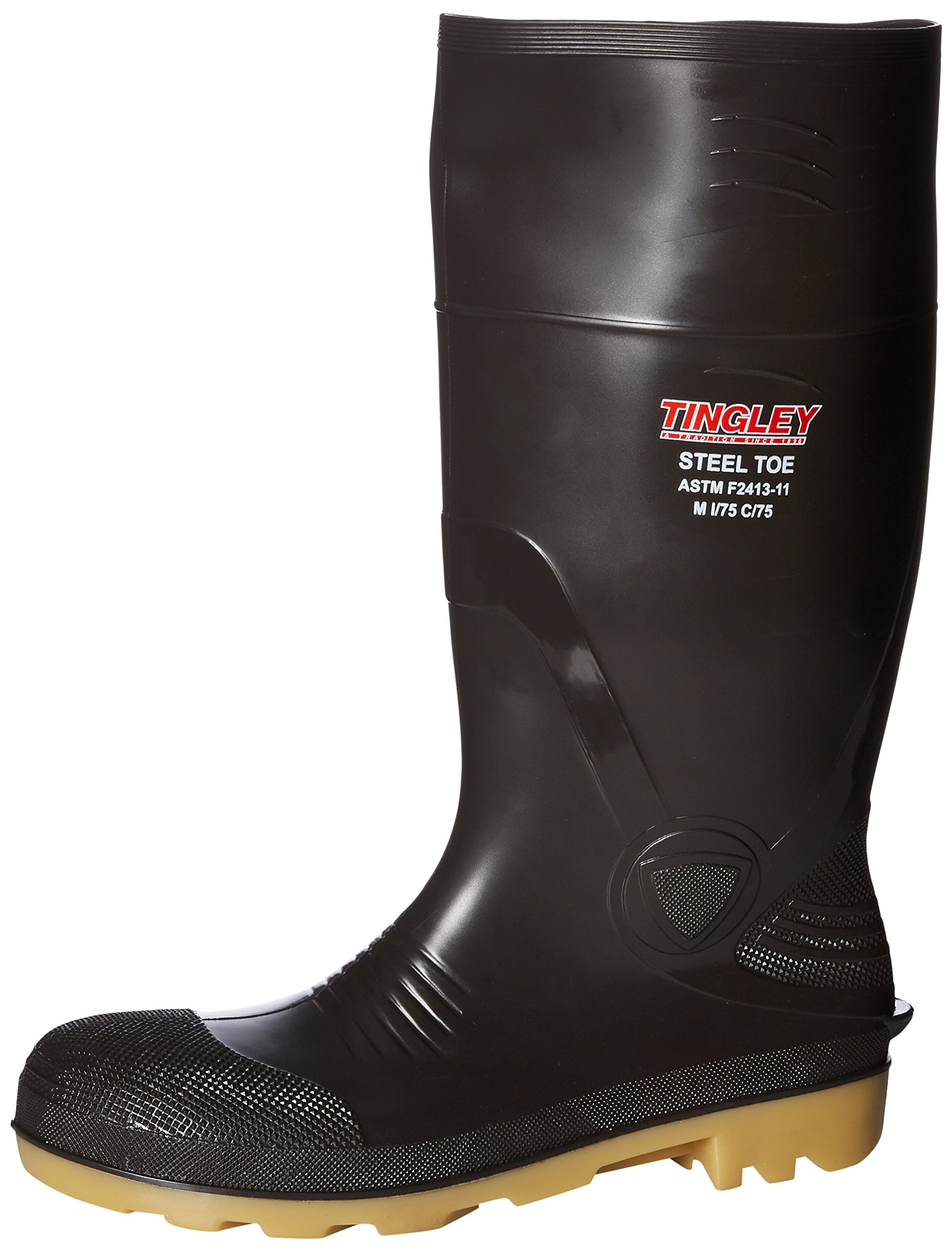 Tingley Rubber 51244 15-Inch Steel Toe Cleated Knee Boot, Size 10, Brown