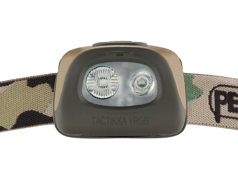 PETZL 250 Lumens TACTIKKA+ RGB Headlamp Red-Green-Blue Lighting