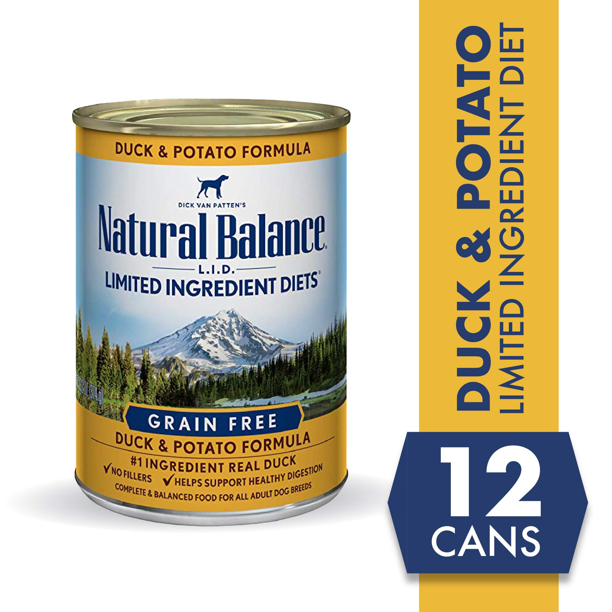 Natural Balance LImited Ingredient Diets Duck & Potato Formula Wet Dog Food, 13 Ounces (Pack of 12), Grain Free by Natural Balance