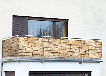 Gut bekannt Amazon.de: Wenko Balkon Sichtschutz Mauer AJ56