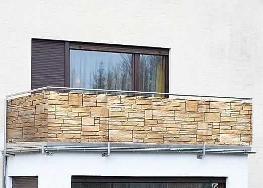 Amazon De Wenko Balkonumspannung Sichtschutz Mauer