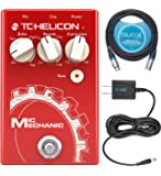TC Helicon Mic Mechanic 2 Vocal Effects Pedal Bundle with Blucoil Slim 9V Power Supply AC Adapter, and 10-FT Balanced…